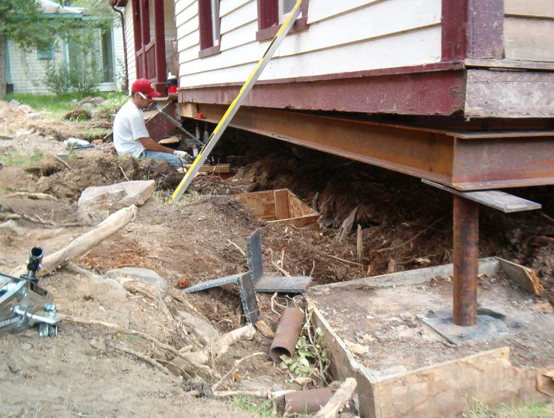 Foundation damage executive piering for Soil support